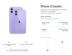 iPhone 12 Pro Ratenzahlung